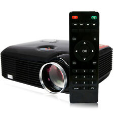 2500 Lumens Mini Home Theater Multimedia 1080P HD LED LCD Projector USB HDMI AV