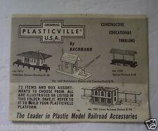 Plasticville Usa 1958 Product Brochure Train Model Kits