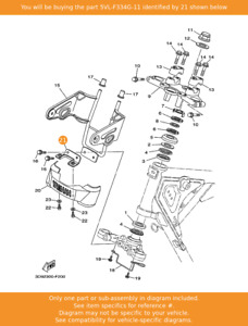 YAMAHA Bracket 1, 5VL-F334G-11 OEM YBR125