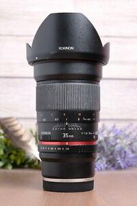 Rokinon 35mm F1.4 Full Frame Wide Angle AS UMC Manual Lens for Sony E-Mount