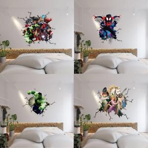 VARIETY OF SMASH THROUGH WALL STICKER VINYL ART DECAL 3D EFFECT BOYS GIRLS ROOM