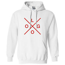 Custom X Logo HOODIE - Personalize Hipster Design Hooded Sweatshirt - All Colors