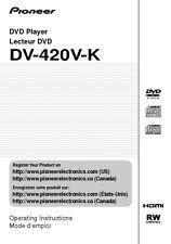 Pioneer DV-420V-K DVD Player Owners Manual