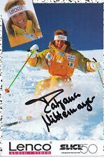 Tatjana mittermayer ski freestyle autografiada mapa original firmado 398887