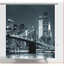 Brooklyn Bridge Fabric Shower Curtain