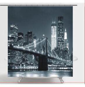 BROOKLYN BRIDGE Fabric Shower Curtain
