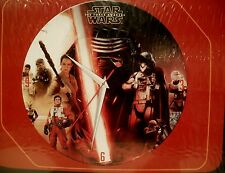 "Star Wars 13.75"" Glass Wall Clock ""The Force Awakens"" Star Wars Classic Clock"