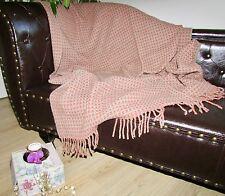 Wool Blanket, Wool Plaid, Sofa Blanket 130x170 cm with 80% Wool