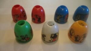 7 vintage Popeye Christmas bells for use with lights