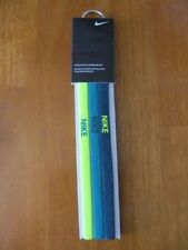 Nike Elastic Hairbands 3 Pack Atomic Green/Night Blue/Forest Green - New