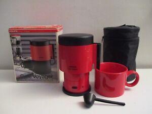 Space Age Krups Desk Top Electric 1 Cup Coffee Maker w/ Starbucks Mug Germany