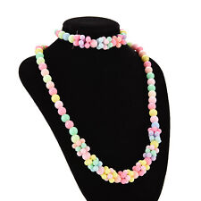 Cute Baby Toddlers Necklace&Bracelet Set Children Gift Girls Party Jewelry TSUS