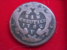 A SCARCE 1762P ONE KREUZER COIN FROM AUSTRIA FROM MY COLLECTION  [GG81]