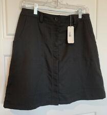 Calloway Women's Golf Skort Size 8 Black Attached Shorts Pockets NWT $70