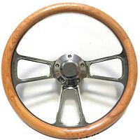 Oak Steering Wheel  for 1968 to 1988  El Camino, Horn + Full Adapter Kit