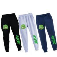 Smile Jelly Green Boys Kids Tracksuit Youtuber Gamer Casual Sport Jogger Pants