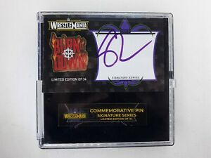 SETH ROLLINS - WWE WRESTLEMANIA 34 SIGNED PIN - LIMITED EDITION - NEW ORLEANS