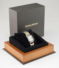 Baume & Mercier Stainless Steel & Gold-Plated Diamant Hampton Watch w/ Box 65548