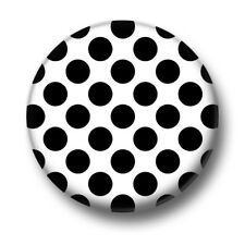 Dots 1 Inch / 25mm Pin Button Badge Polkadots Black White Spots Spotty Cute Fun
