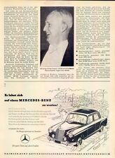 Mercedes - 220-1954 - Publicité-Publicité-Genuine ADVERT-la publicité-NL-correspondance