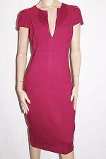 ASOS Designer Burgundy Short Sleeve Pencil Dress Size 18 #SJ09