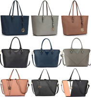 LeahWard Women's Faux Leather Fashion Large Shopper Tote Shoulder Handbags Bag