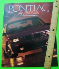 1988 PONTIAC PERFORMANCE CATALOG Brochure 36-pgs FIERO GT Grand Prix TRANS AM