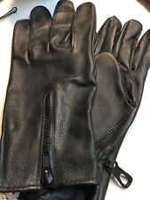 Leather Driving Gloves Car, Motorcycle Bikers Genuine Leather Black Medium