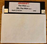 Pac-Man / Ms. Pac-Man / Works on all Apple II, IIe, IIc, & IIgs Computers