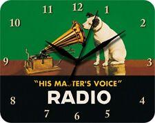 HIS MASTERS VOICE RADIO HUND - Blechuhr Wanduhr Uhr Clock 24
