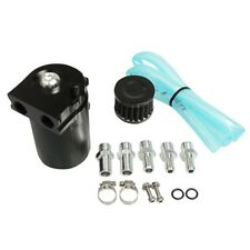 Universal Aluminum Alloy Oil Catch Tank Can With Breather Filter Round New Pro