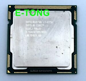 SLBS2 Intel Core i7-875K 2.93GHz CPU Processor Socket 1156 / LGA1156 quad cores