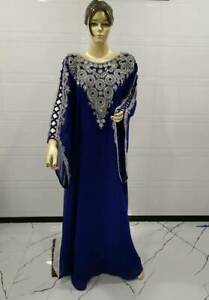 New Women Vintage Abaya Kaftan Jilbab Cocktail Maxi Islamic Muslim Dress Party