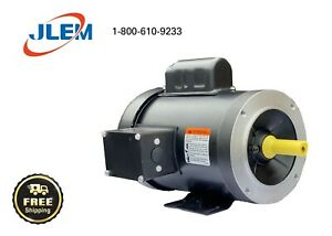 2 HP 1800 RPM SINGLE PHASE ELECTRIC MOTOR  145T FRAME FREE SHIPPING