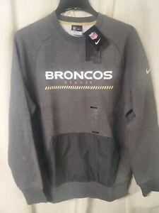 Nike Denver Broncos Hybrid Large BRAND NEW Sweatshirt Sweater NFL NWT FREE SHIP