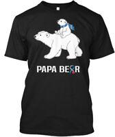 Diabetes Awareness Papa Bear - Hanes Tagless Tee T-Shirt