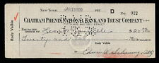 LEO McCONVILLE JAZZ TRUMPET CORNET AUTOGRAPHED CHECK FROM 1930 TOMMY DORSEY