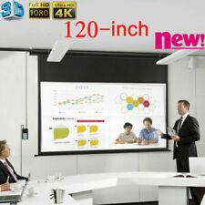 Neu 120 Zoll Elektrisch Beamer Leinwand Projektor Bildschirm mit Fernbedienungen