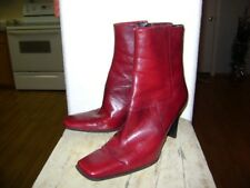 Nine West Red Leather Mid Calf Boots  Size 7