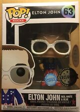 Figurine Funko Pop Rocks - Vinyl - 63 Elton John Glitter - Exclusive - Neuf