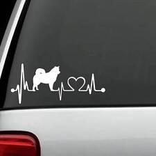 K1051 Alaskan Malamute Heartbeat Dog Decal Sticker Auto Window Art Pet Accessory