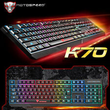 UK MotoSpeed K70 Colorful Rainbow Illuminated Usb Wired Gaming Backlit Keyboard