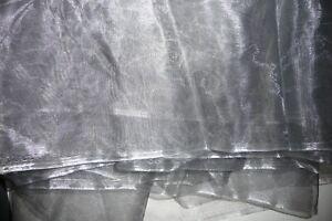 Organza Stoff Deko grau 5,40 m 150 cm breit nie benutzt