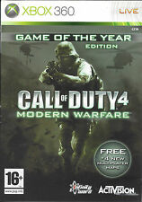 CALL OF DUTY 4 MODERN WARFARE for Xbox 360 - with box & manual - PAL