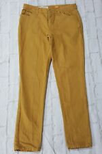 Pilcro and the Letterpress Pants 26 Hyphen Fit Mustard Yellow Skinny Slim Linen