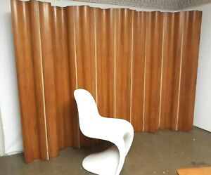early 1950's Charles and Ray Eames 10 panel molded plywood folding screen FSW-10