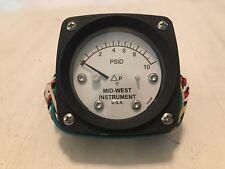 Midwest Instruments Pressure Gauge Differential Pressure Gauge 0-10 PSID