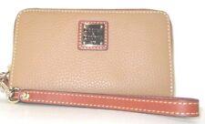 Dooney & Bourke Zip Around Pebbled Leather Wristlet Clutch Wallet