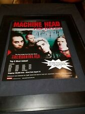 Machine Head From This Day Rare Original Radio Promo Poster Ad Framed!