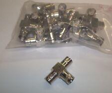 L-Com BNC Female-Female-Female 75 Ohm Coaxial T Adapter Splitter BA019 15-Pack